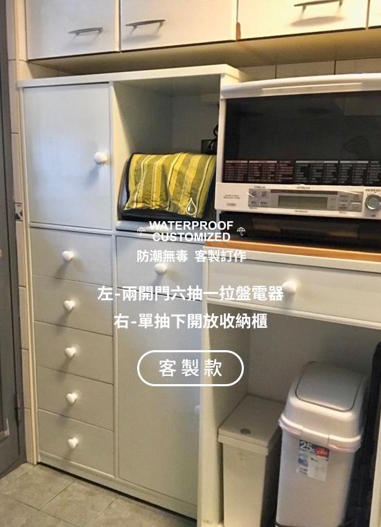 我們的作品_電器櫃_一抽二拉盤塑鋼電器櫃_06_客製款