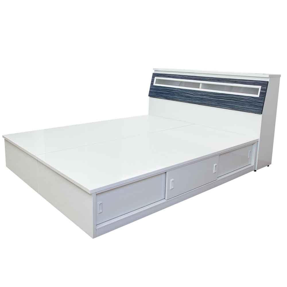 3.5尺床頭箱+3.5尺加高三拉門床底
